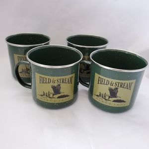 Vintage Field & Stream DesignPac tin cups and mugs